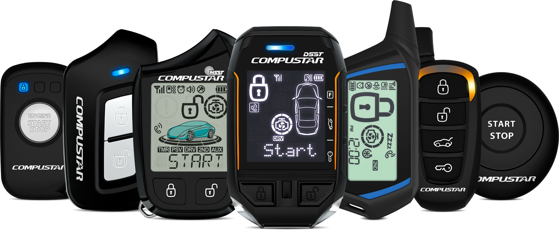 Compustar remote start and security remotes