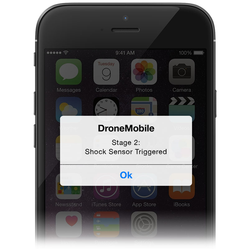 Dronemobile stay secure