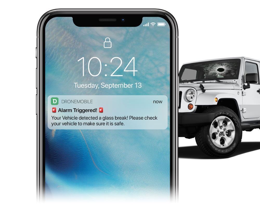 DroneMobile Smartphone Car Alarm